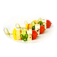 Канапе из свежих овощей
