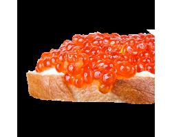Мини-бутерброд с красной икрой