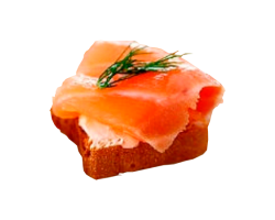 Мини-бутерброд с семгой