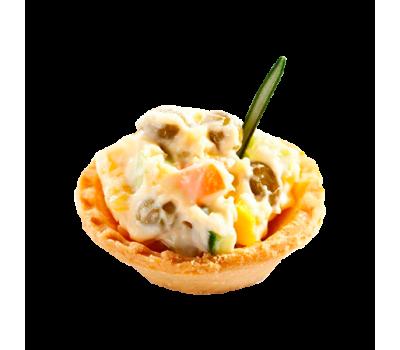 Мини-тарталетка с салатом мясным в ассортименте