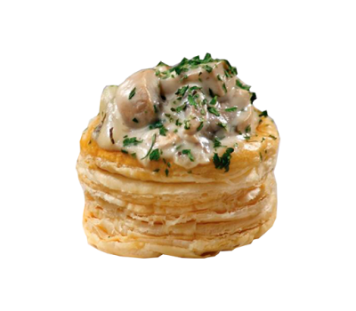 Мини-тарталетка с салатом грибным в ассортименте