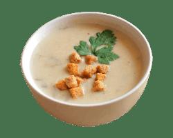 Суп картофельный с шампиньонами со сметаной