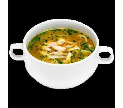 Суп-лапша домашняя с курицей