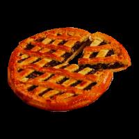 Пирог сладкий с яблоком и повидлом