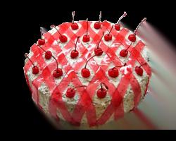 Торт «Графиня Вишенка» (бисквит шокол., вишневое варенье, шокол.суфле)