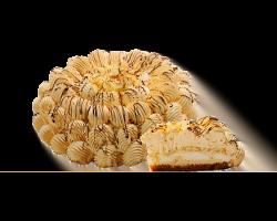 Торт «Крем-брюле» (бисквит, сливки, варен. сгущ. молоко)