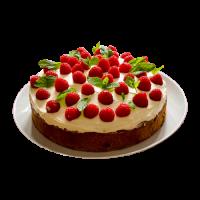 Торт «Малиновка» (медовые коржи, сливки,малиновое варенье)