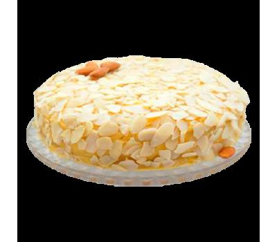 Торт «Миндальный» (бисквитные коржи с добавлением кофе, мака, ореха)