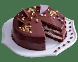 Торт «Черный кот» (песочные коржи, белк. крем,варен. сгущ. молоко масло)