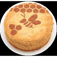 Торт «Пчелка» (мед. коржи, сливки, мед, варен. сгущ. молоко)