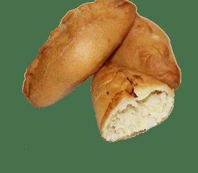 Пирожок печеный с капустой