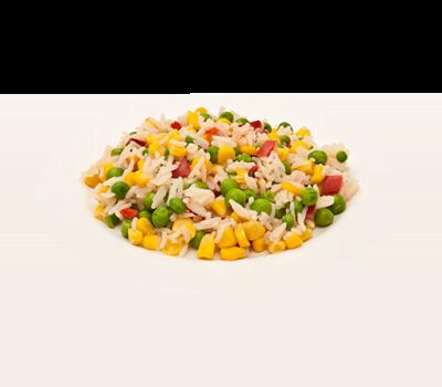 Рис припущеный с овощами